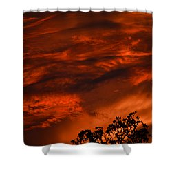 Shower Curtain featuring the photograph Sunset Over Altoona by DigiArt Diaries by Vicky B Fuller