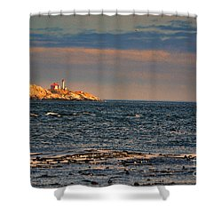 Sunset Over British Columbia Shower Curtain