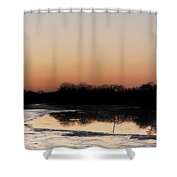 Sunset Over The Republican River Shower Curtain by Art Whitton