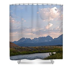 Sunset Over The Salmon River Shower Curtain