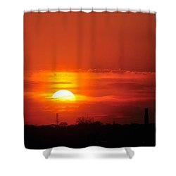 Sunset Over Washington Dc Shower Curtain