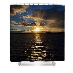Sunset Over Winnepesaukee Shower Curtain