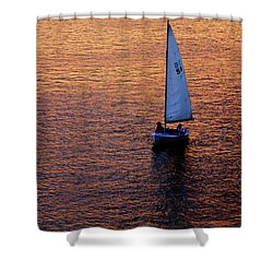 Sunset Sailing Shower Curtain by Rick Berk