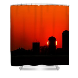 Sunset Silo Shower Curtain by Cale Best