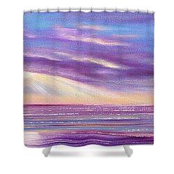 Sunset Spectacular - Panoramic Sunset Shower Curtain