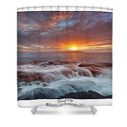 Sunset Tides - Cemlyn Shower Curtain by Beverly Cash