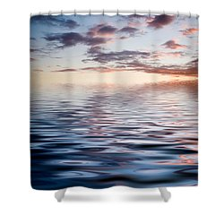 Sunset With Reflection Shower Curtain by Kati Molin