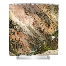 Sunshine On Grand Canyon In Yellowstone Shower Curtain by Living Color Photography Lorraine Lynch