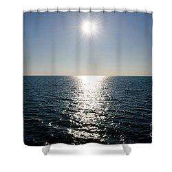 Sunshine Over The Mediterranean Sea Shower Curtain