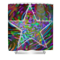 Super Star Shower Curtain by Kevin Caudill