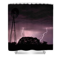 Super Storm Shower Curtain by Linda Unger