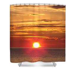 Shower Curtain featuring the photograph Superior Setting by Bonfire Photography