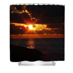 Shower Curtain featuring the photograph Superior Sunset by Bonfire Photography