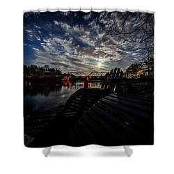 Supermoon Shower Curtain by Everet Regal