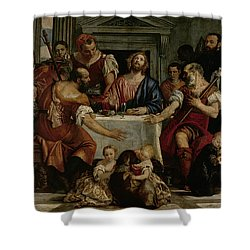 Supper At Emmaus Shower Curtain by Veronese