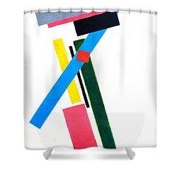 Suprematism Shower Curtain by Kazimir Severinovich Malevich