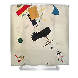 Suprematist Composition No 56 Shower Curtain by Kazimir Severinovich Malevich