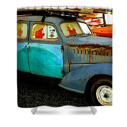 Surf Mobile Shower Curtain