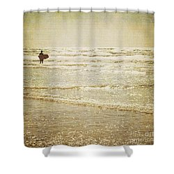 Surf The Sea And Sparkle Shower Curtain by Lyn Randle