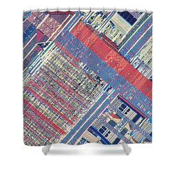 Surface Of Integrated Chip Shower Curtain by Michael W. Davidson