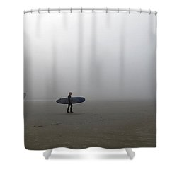 Surfing Into The Abyss Shower Curtain