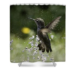Surfing The Drops Of Water Shower Curtain by Betty Depee