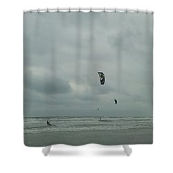 Shower Curtain featuring the photograph Surfing The Wind by Donna Brown