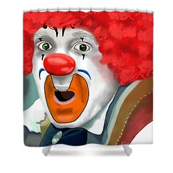 Surprised Clown Shower Curtain by Methune Hively