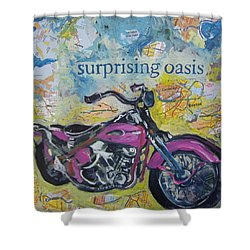 Surprising Oasis Shower Curtain