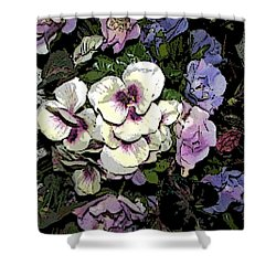 Surrounding Pansies Shower Curtain