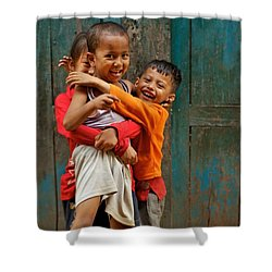 Survival Of The Fittest Shower Curtain by Valerie Rosen