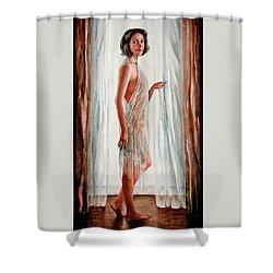 Survivor Self-portrait Shower Curtain