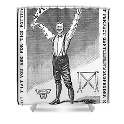 Suspenders, 1888 Shower Curtain by Granger