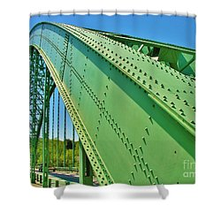 Shower Curtain featuring the photograph Suspension Bridge by Sherman Perry