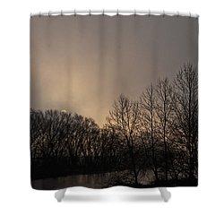 Susquehanna River Sunrise Shower Curtain