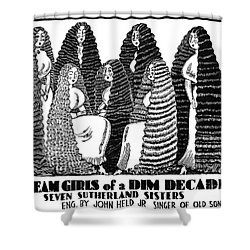 Sutherland Sisters Shower Curtain by Granger