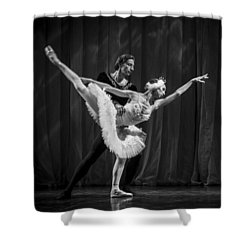Swan Lake  White Adagio  Russia 3 Shower Curtain by Clare Bambers