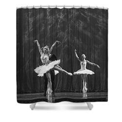 Swan Lake  White Adagio  Russia 4 Shower Curtain by Clare Bambers