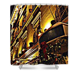 Shower Curtain featuring the photograph Swans Hotel by Marilyn Wilson