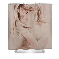 Sweet Dreams Shower Curtain by Rachel Christine Nowicki