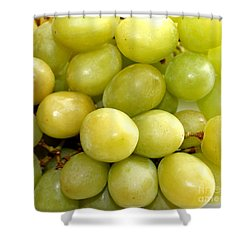 Sweet Green Grapes Shower Curtain by Barbara Griffin