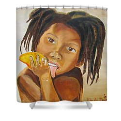 Sweet Mango Shower Curtain by Jennylynd James