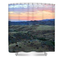 Sweet So Cal Sunset Shower Curtain by Lynn Bauer