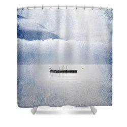 Swim Platform Shower Curtain by Joana Kruse