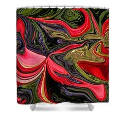 Swirled Garden 1 Shower Curtain by Renate Nadi Wesley