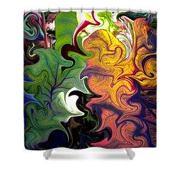 Swirled Leaves Shower Curtain by Renate Nadi Wesley