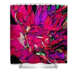 Swirly Fabric Flower Shower Curtain by Judi Bagwell