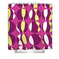Swirly Stripe Shower Curtain by Louisa Knight