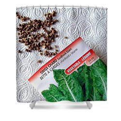 Swiss Chard Seeds Shower Curtain by Will Borden