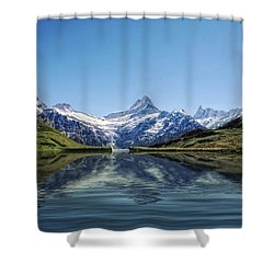 Swiss Primary Rocks Shower Curtain by Joachim G Pinkawa